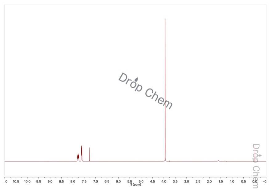 2-(トリフルオロメチル)安息香酸メチルの1HNMRスペクトル