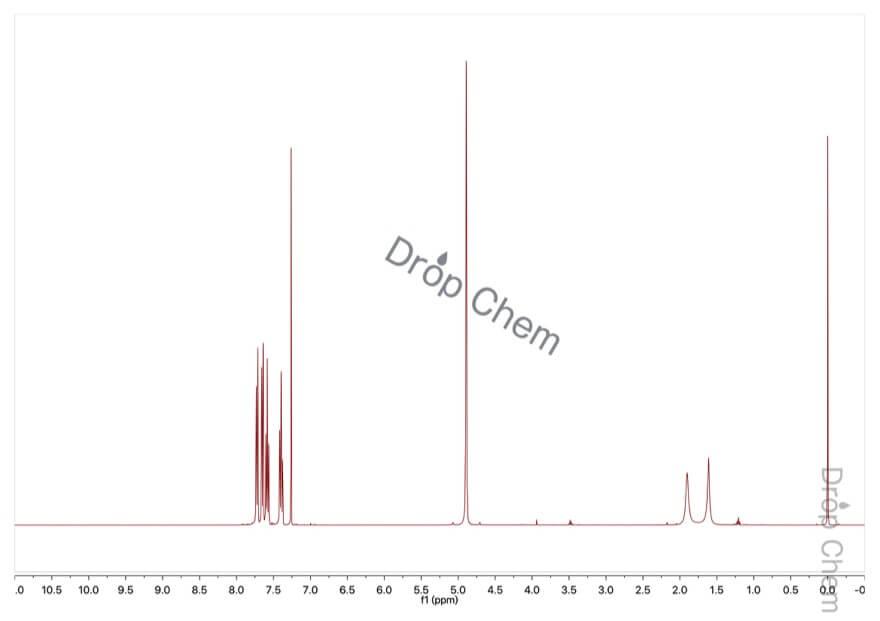 2-(トリフルオロメチル)ベンジルアルコールの1HNMRスペクトル