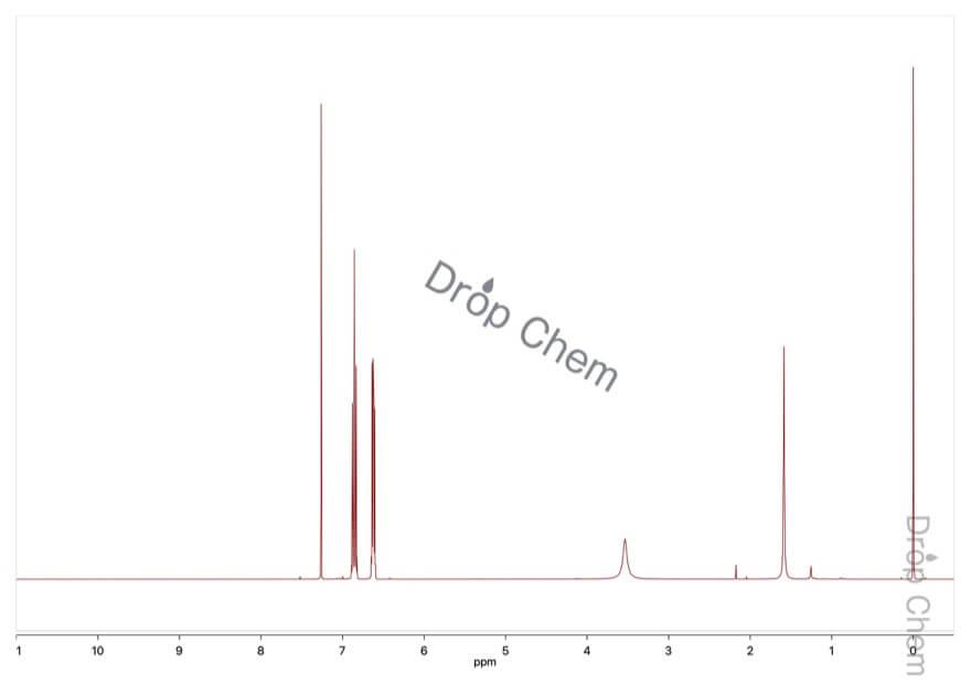 4-フルオロアニリンの1HNMRスペクトル