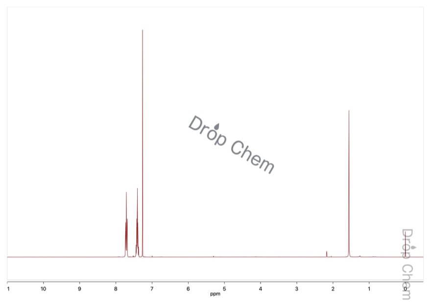 2-ブロモベンゾトリフルオリドの1HNMRスペクトル