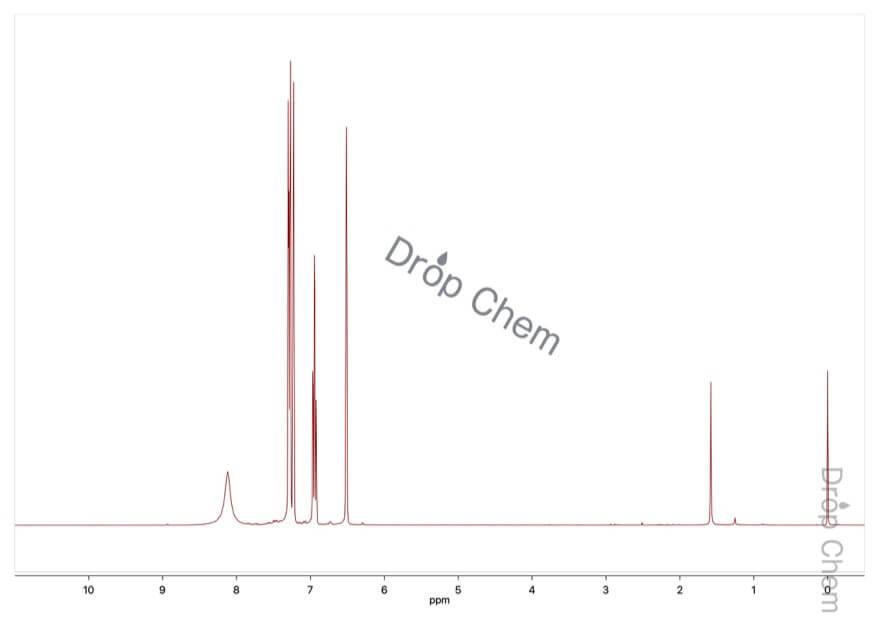 5-フルオロインドールの1HNMRスペクトル