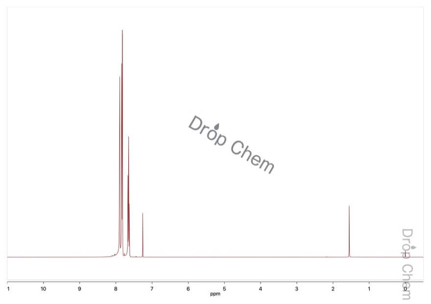 1,3-ビス(トリフルオロメチル)ベンゼンの1HNMRスペクトル