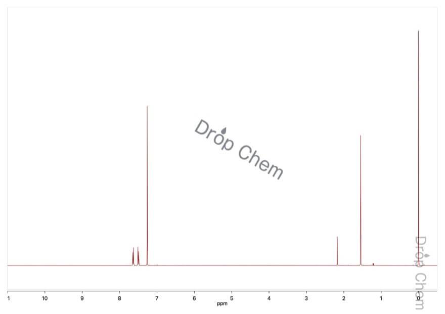 4-ブロモベンゾトリフルオリドの1HNMRスペクトル