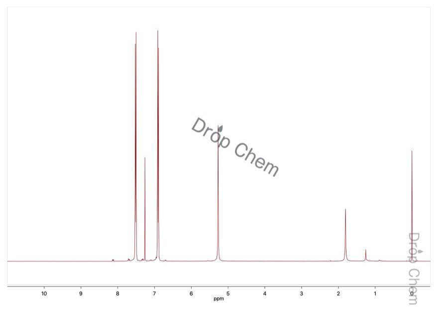 4-ヒドロキシベンゾトリフルオリドの1HNMRスペクトル