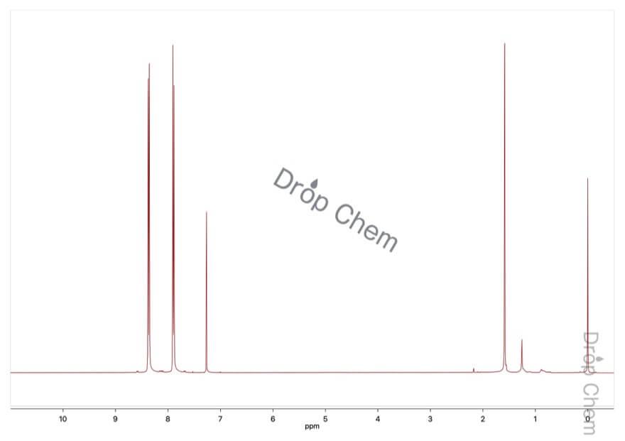 4-ニトロベンゾトリフルオリドの1HNMRスペクトル