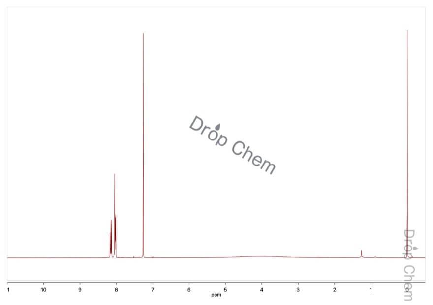 3-フルオロ-4-ニトロ安息香酸の1HNMRスペクトル
