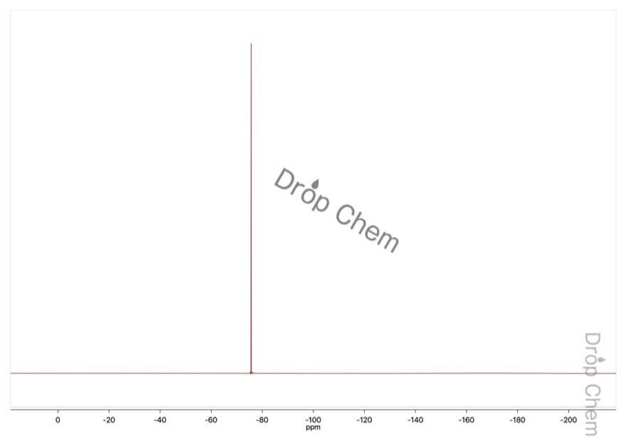 トリフルオロ酢酸無水物の19FNMRスペクトル