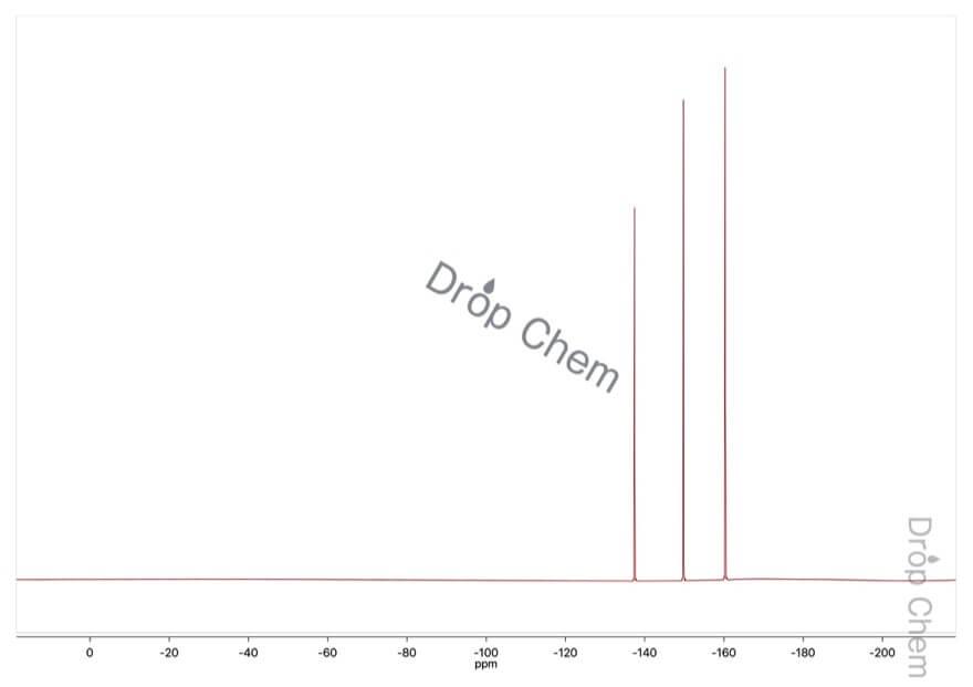 デカフルオロビフェニルの19FNMRスペクトル