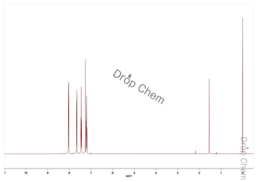 2-ヨードベンゾトリフルオリドの1HNMRスペクトル