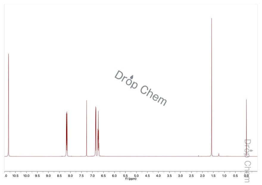 5-フルオロ-2-ニトロフェノールの1HNMRスペクトル