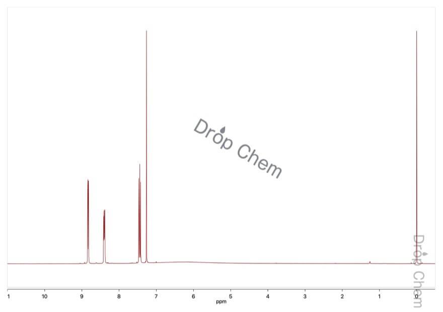 4-フルオロ-3-ニトロ安息香酸の1HNMRスペクトル