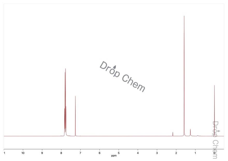 4-(トリフルオロメチル)ベンゾニトリルの1HNMRスペクトル