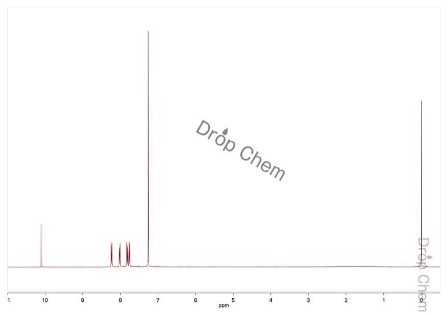 4-(トリフルオロメチル)ベンズアルデヒドの1HNMRスペクトル
