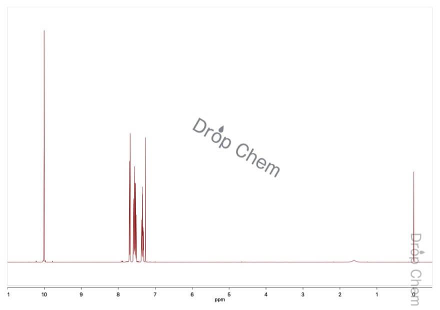 3-フルオロベンズアルデヒドの1HNMRスペクトル