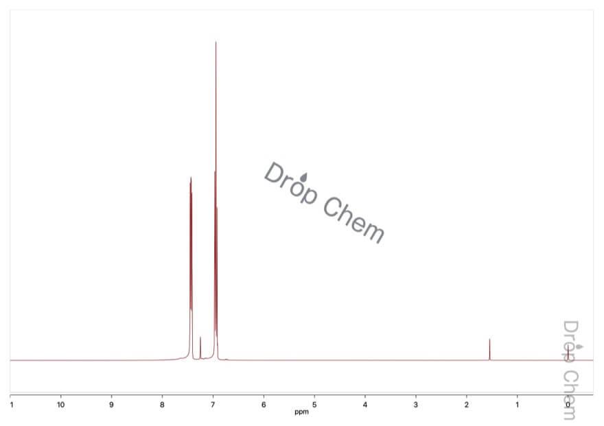 4-ブロモフルオロベンゼンの1HNMRスペクトル