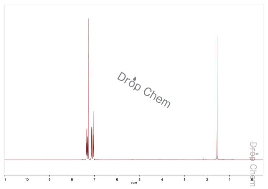 フルオロベンゼンの1HNMRスペクトル