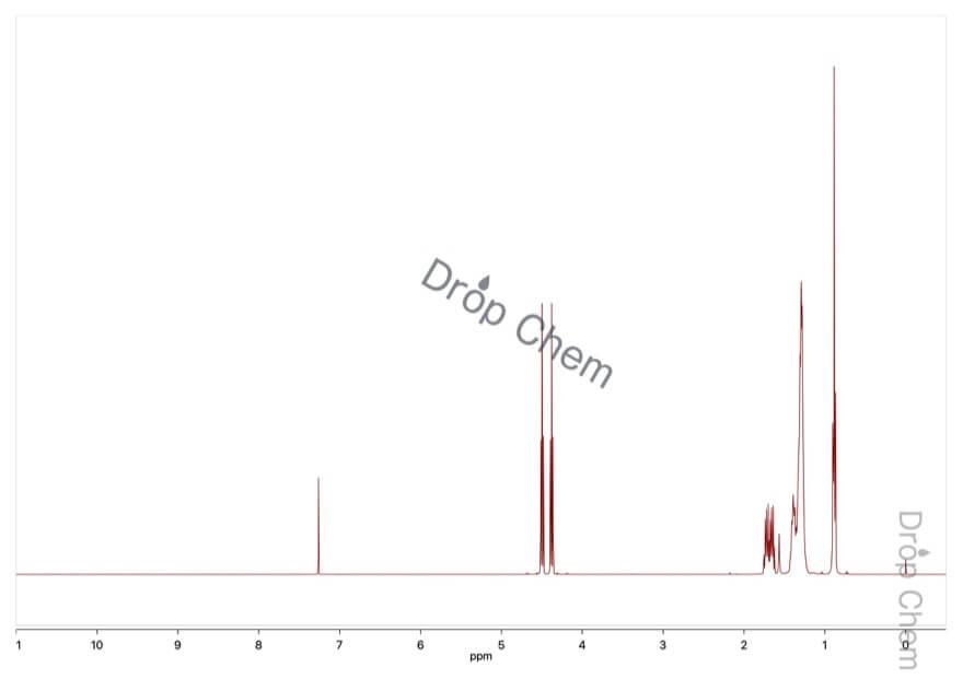 1-フルオロオクタンの1HNMRスペクトル