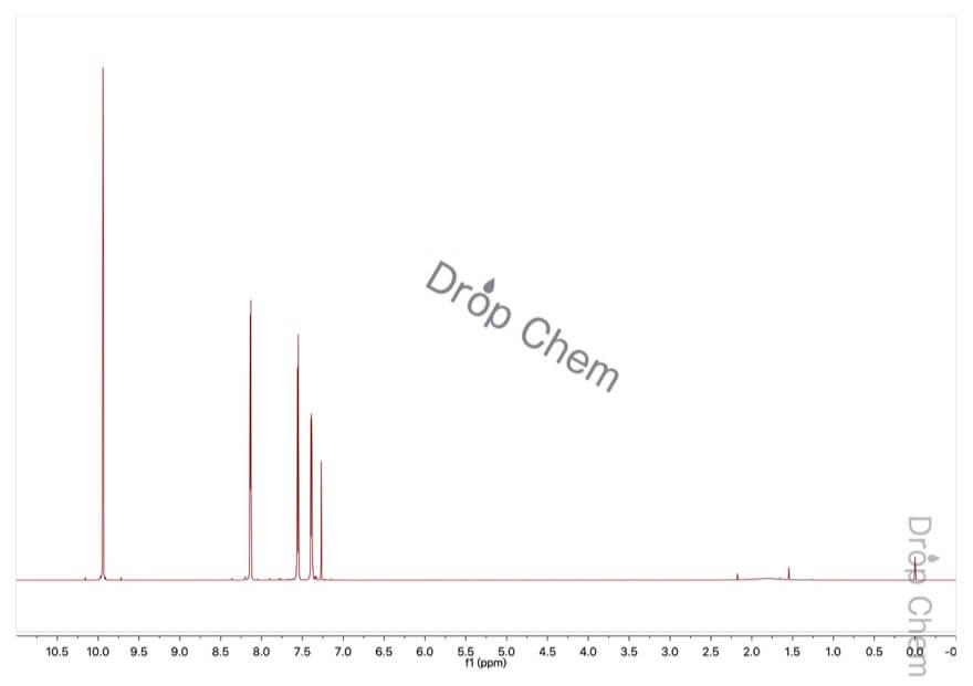 3-チオフェンカルボキシアルデヒドの1HNMRスペクトル