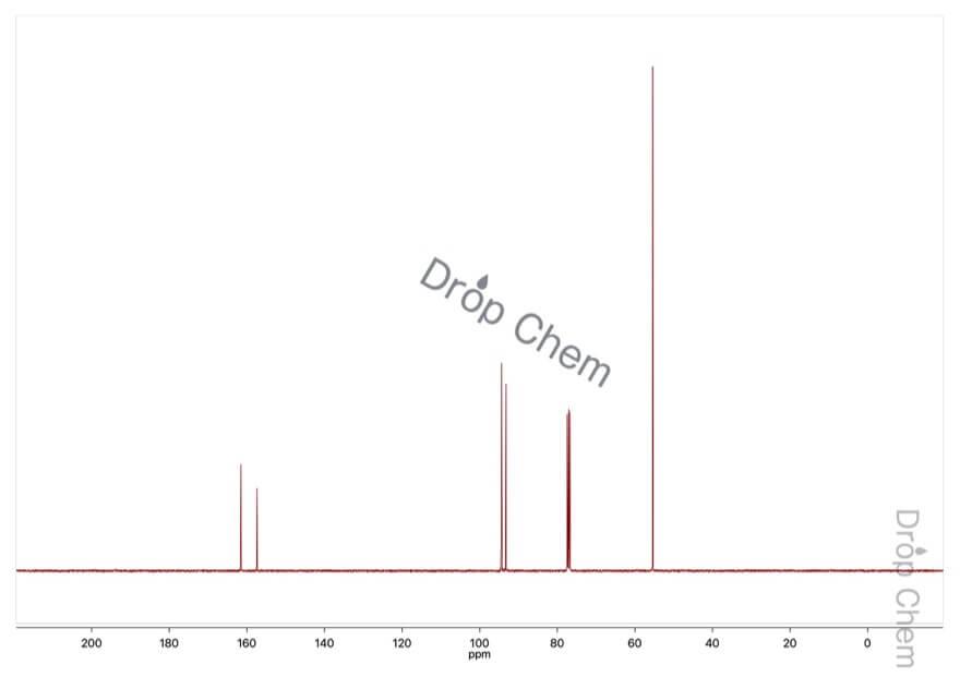 3,5-ジメトキシフェノールの13CNMRスペクトル