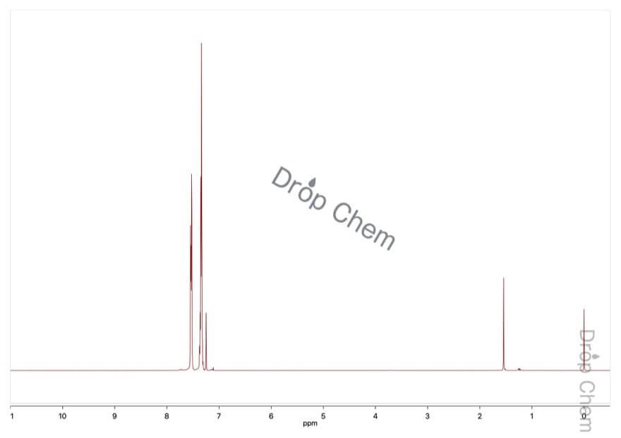 ジフェニルアセチレンの1HNMRスペクトル