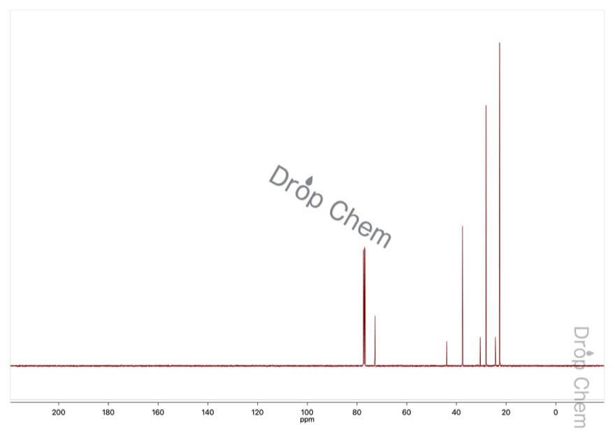 シクロヘプタノールの13CNMRスペクトル