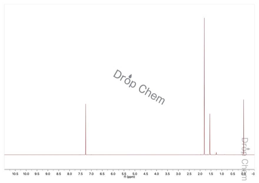 2-ブロモ-2-メチルプロパンの1HNMRスペクトル