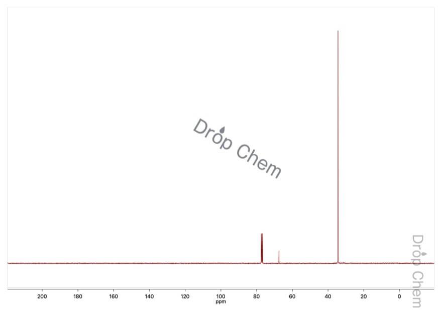 2-クロロ-2-メチルプロパンの13CNMRスペクトル