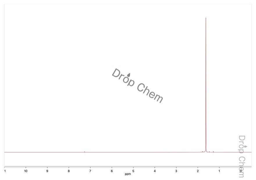2-クロロ-2-メチルプロパンの1HNMRスペクトル