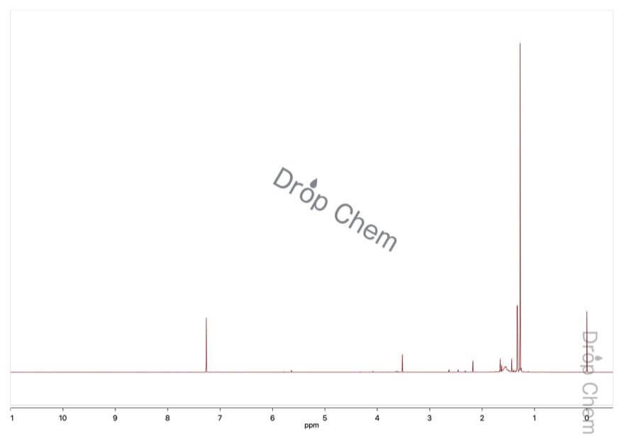 次亜塩素酸tert-ブチルの1HNMRスペクトル