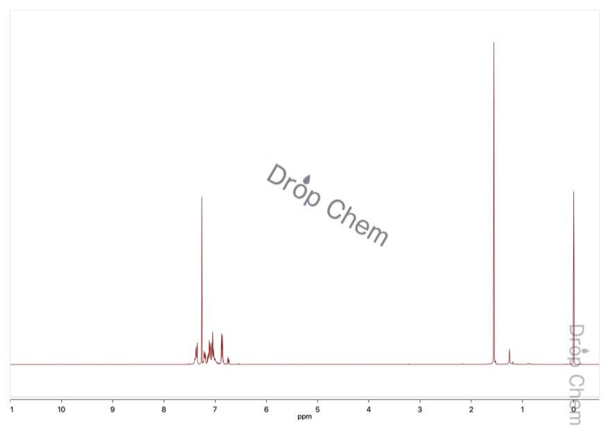 5,6,11,12-テトラフェニルナフタセンの1HNMRスペクトル