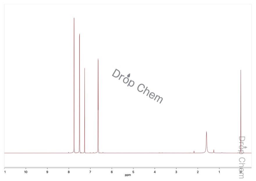 2-フロイルクロリドの1HNMRスペクトル