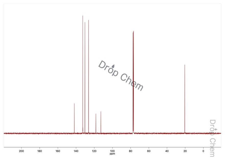 o-トルニトリルの13CNMRスペクトル