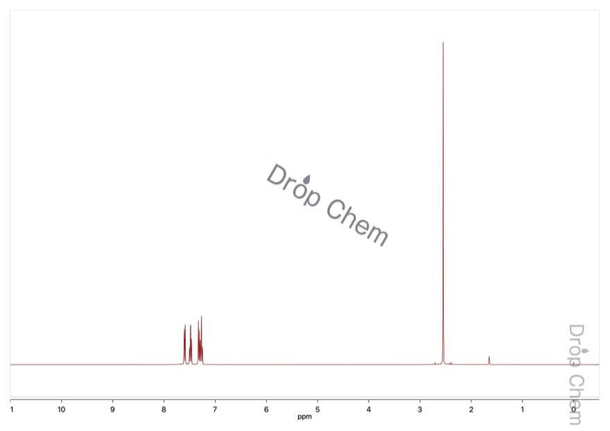 o-トルニトリルの1HNMRスペクトル