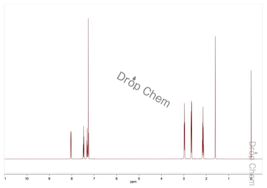 α-テトラロンの1HNMRスペクトル