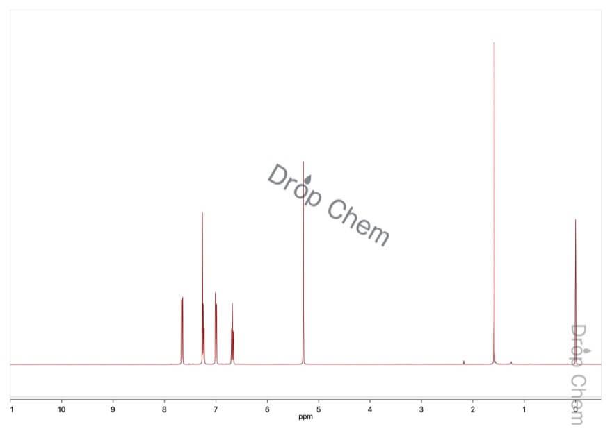2-ヨードフェノールの1HNMRスペクトル