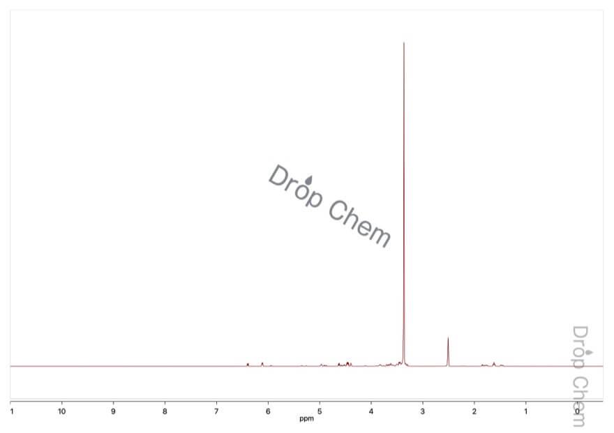 2-デオキシ-D-リボースの1HNMRスペクトル