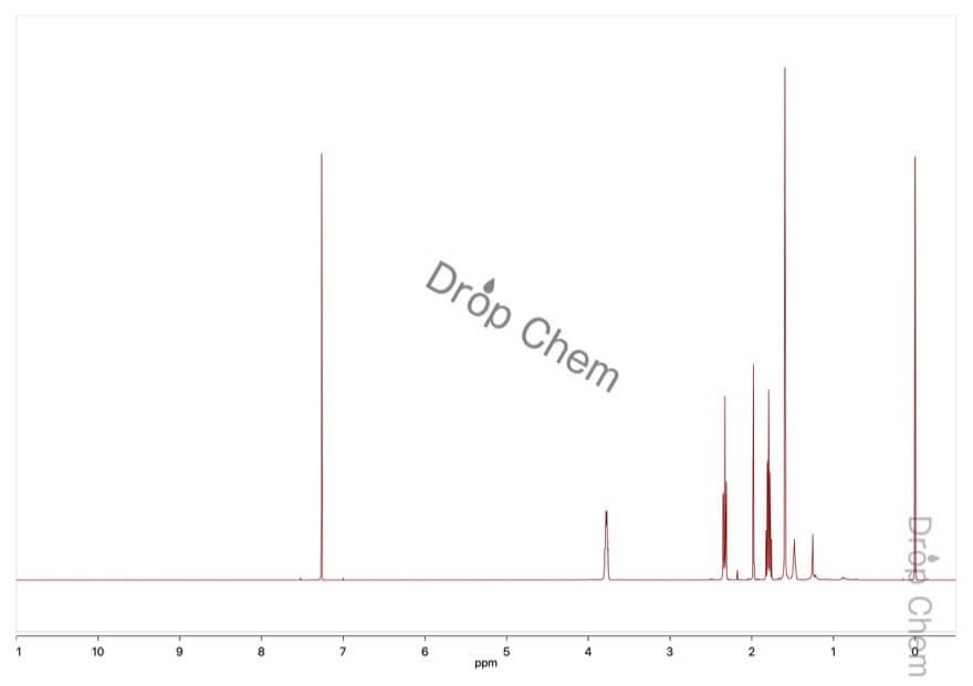 4-ペンチン-1-オールの1HNMRスペクトル