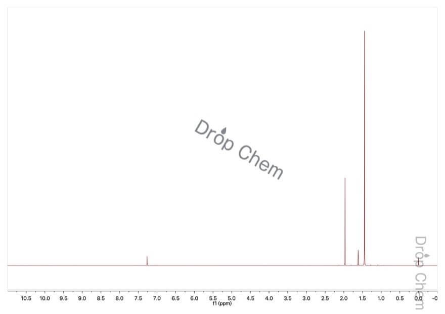 酢酸tert-ブチルの1HNMRスペクトル