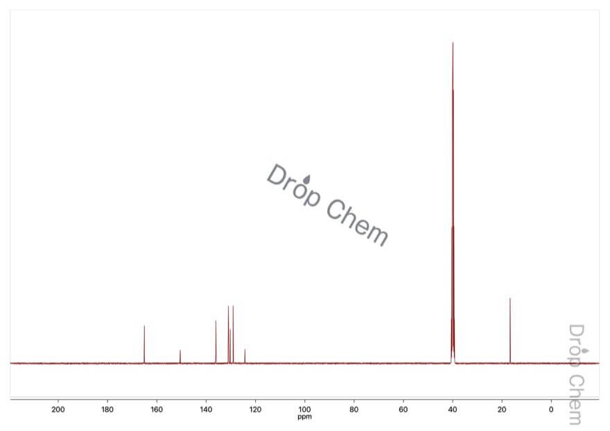 3-メチル-2-ニトロ安息香酸の13CNMRスペクトル
