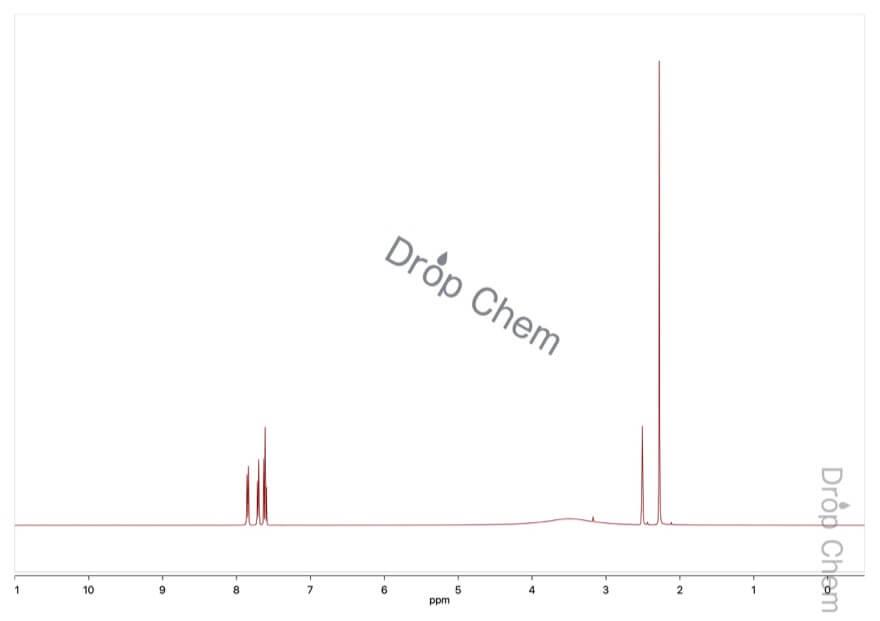 3-メチル-2-ニトロ安息香酸の1HNMRスペクトル