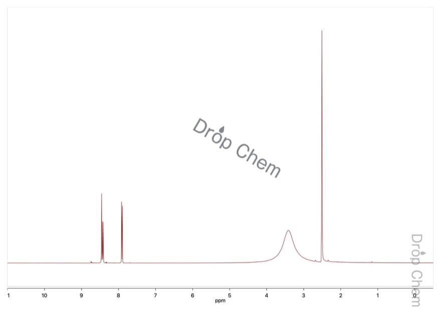4-ニトロフタル酸無水物の1HNMRスペクトル