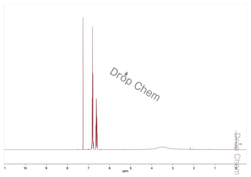 2,6-ジフルオロアニリンの1HNMRスペクトル
