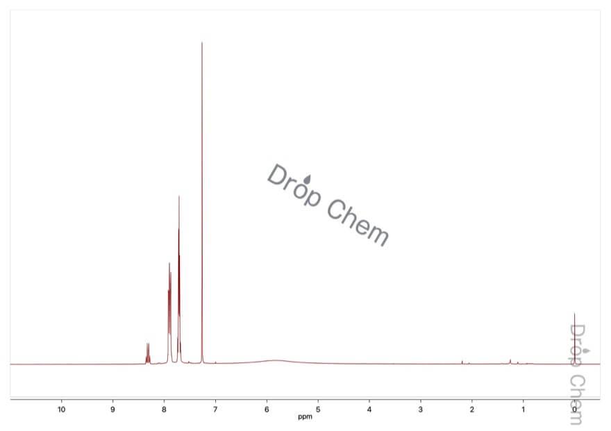 2-ニトロ安息香酸の1HNMRスペクトル