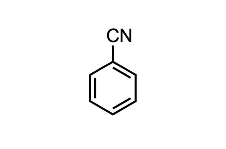 ベンゾニトリルの構造式