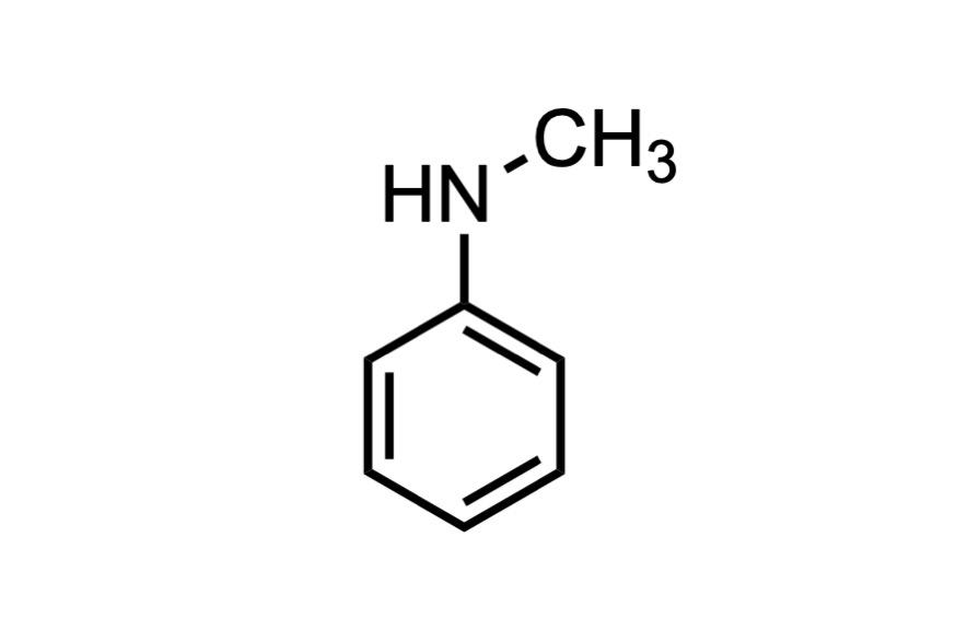 N-メチルアニリンの構造式