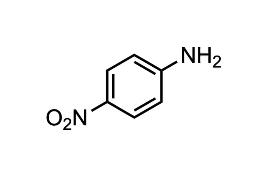 4-ニトロアニリンの構造式