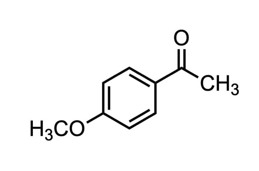 4'-メトキシアセトフェノンの構造式