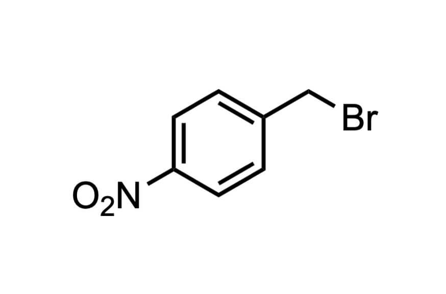 4-ニトロベンジルブロミドの構造式