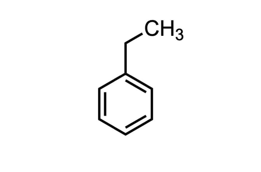 エチルベンゼンの構造式