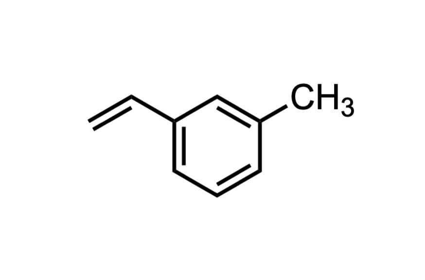 3-メチルスチレンの構造式